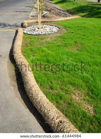 Soil Erosion Mitigation - stock photo