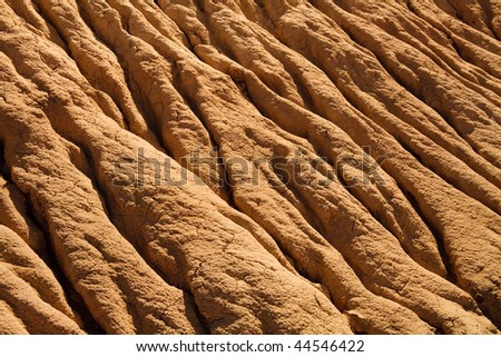 Soil Erosion Pattern in Arizona, USA - stock photo