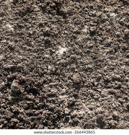 Soil for agriculture, top view - stock photo