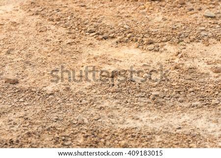 Soil in arid season - stock photo