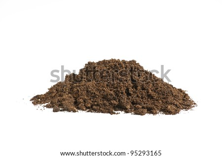 soil isolated on a white background