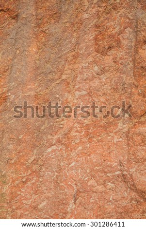 Soil layer ground red - stock photo