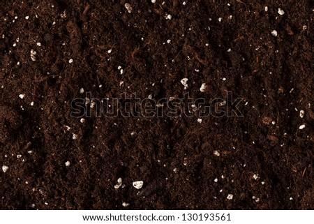 Soil on the white - stock photo