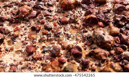 soil rock ground texture background red brown nature