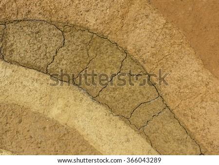soil texture soil broken pattern Background floor Dry ground - stock photo