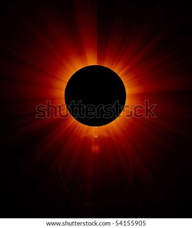 solap eclipse - stock photo