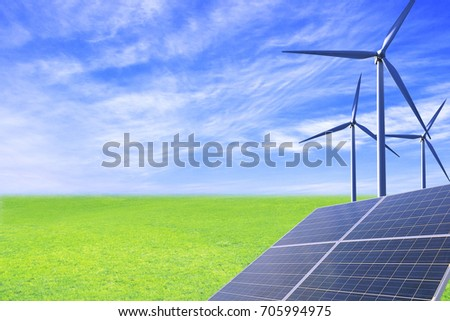 Solar and wind power create future cities