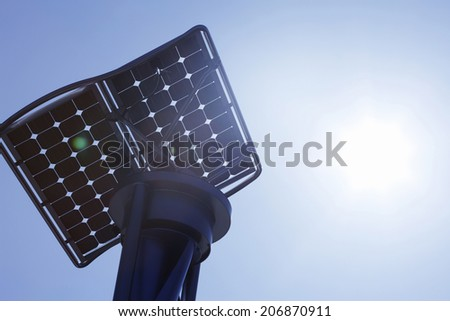 Solar And Wind Power Generator - stock photo