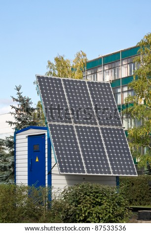 solar battery for reception of energy in the city