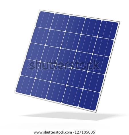 Solar battery panel - stock photo