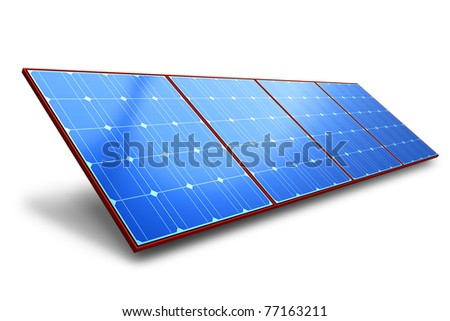 Solar battery panel - stock photo