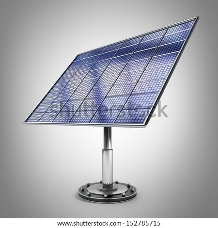 Solar battery panel 3d illustration. high resolution