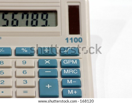 Solar Calculator - stock photo