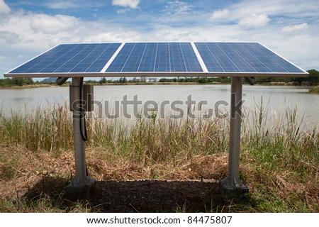 Solar cell. - stock photo