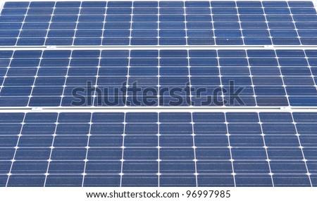 Solar cell closeup - stock photo