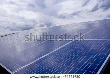 solar cell energy - stock photo