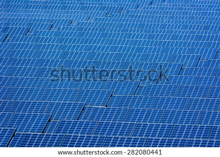solar cell  energy of the sun - stock photo