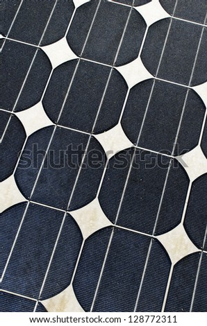 solar cell harness energy of the sun - stock photo