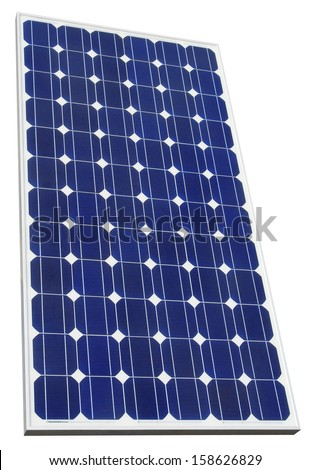 Solar Cell Isolated with Clipping Path - stock photo