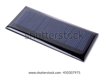 Solar cell panel isolated on white background. - stock photo