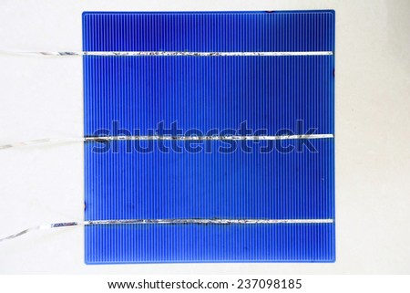Solar cell panel with bus wire  - stock photo