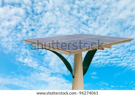 Solar cell panels - stock photo