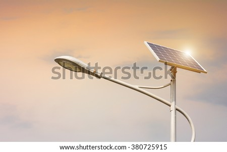 Solar Cell - powered lanterns - stock photo