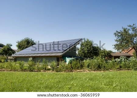 Solar cells - stock photo