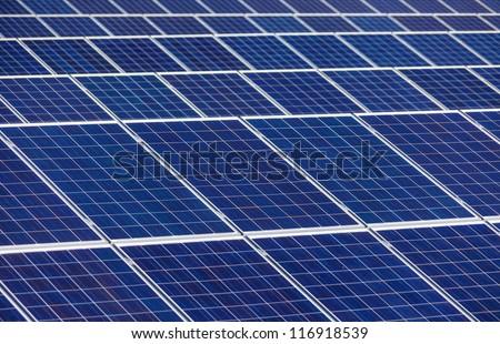 solar cells for solar energy a solar power plant. alternative and clean energy from solar power - stock photo