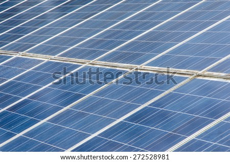 Solar-cells on a roof