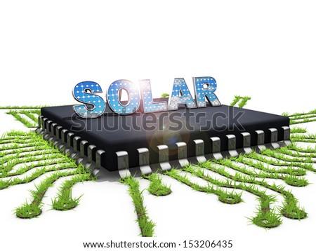 Solar chip - stock photo