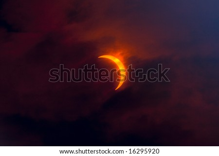Solar Eclipse 2008. - stock photo