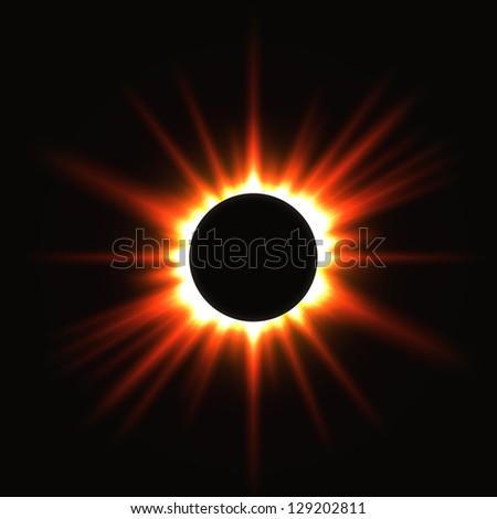 Solar eclipse. abstract illustration - stock photo