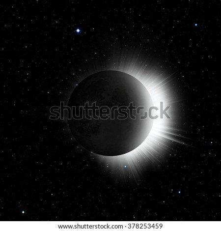 """Solar eclipse""""Elements of this image furnished by NASA"""" - stock photo"""