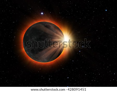 "Solar eclipse""Elements of this image furnished by NASA"""