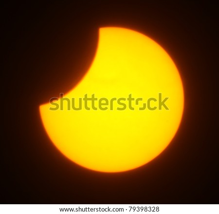 Solar eclipse for a background 1.08.08. Ukraine, Donetsk region - stock photo