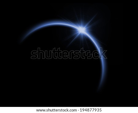 Solar eclipse in blue color