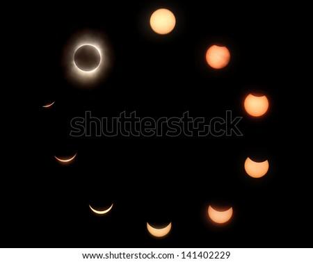 solar eclipse in Chongqing China - stock photo