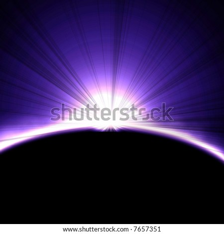 Solar eclipse in outer space - stock photo