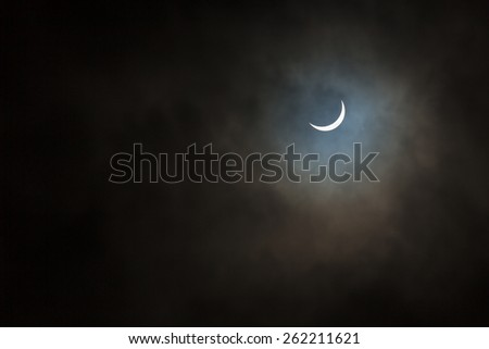 Solar Eclipse, the UK on 20 March 2015 - stock photo