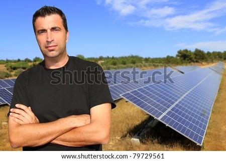 Solar electric energy [Photo Illustration] - stock photo