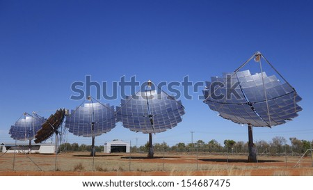 Solar Electricity Generation, Thargomindah, Queensland, Australia - stock photo