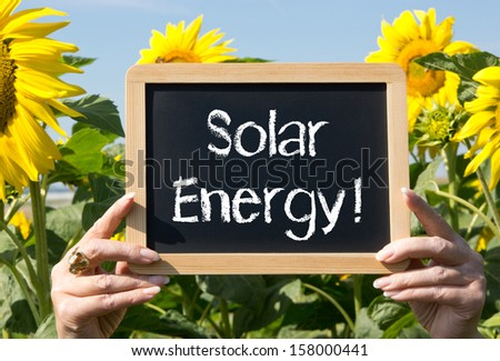 Solar Energy ! - stock photo