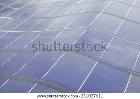 Solar energy collector plates - stock photo