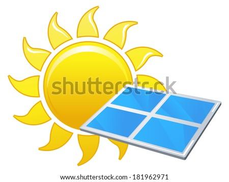 Solar Energy - Illustration - stock photo