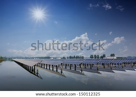 solar energy in china - stock photo
