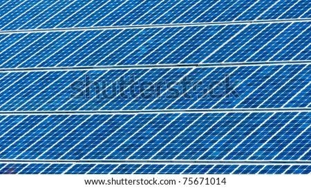 solar energy panel cells background - stock photo
