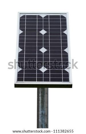solar energy panel - isolated on white background - stock photo