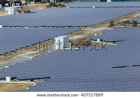 Solar energy plant - stock photo