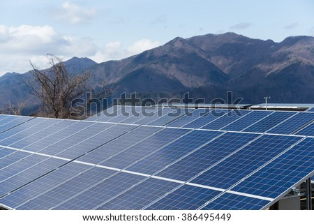 Solar energy power in countryside